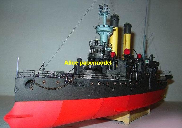 1:200 1:144 1:100 1:72 1:48 WWI Russian Russia Battleship General admiral Apraksin Ironclad battleship missile cruiser frigate destoryer aircraft carrier landing ship large scale size super big long submarine military warship papercraft model models