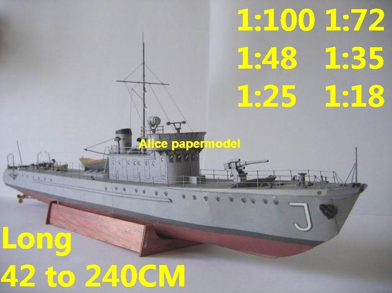 gunship gunboat Torpedo boat ironclad frigate submarine destoryer large scale size super big long battleship aircraft carrier military warship ship papercraft model models