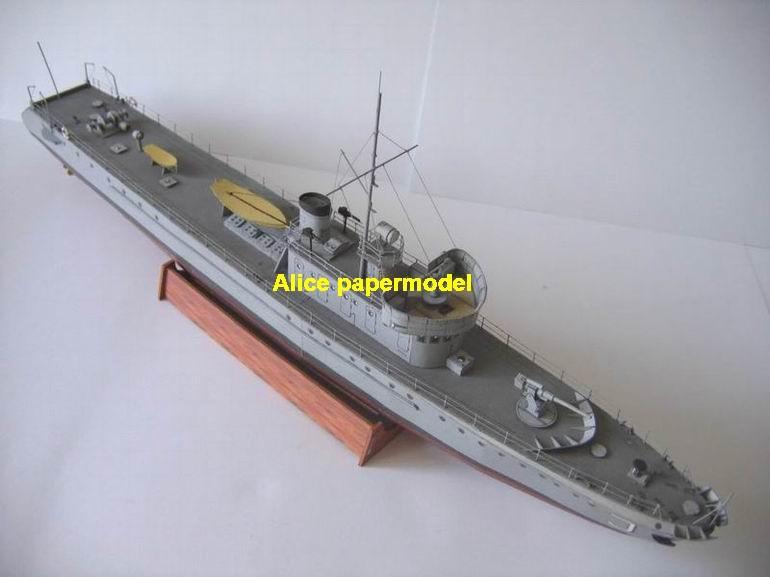 gunship gunboat Torpedo boat ironclad frigate submarine destoryer large scale size super big long battleship aircraft carrier military warship ship papercraft model models