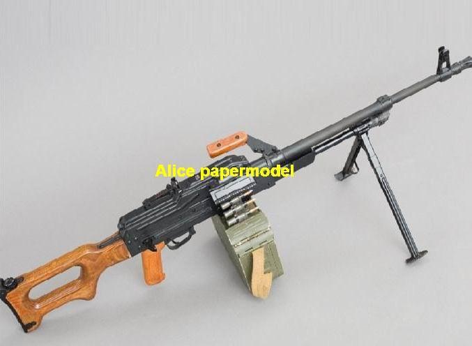 Russia PK machine gun sniper assault rifle weapon toygun rifles models