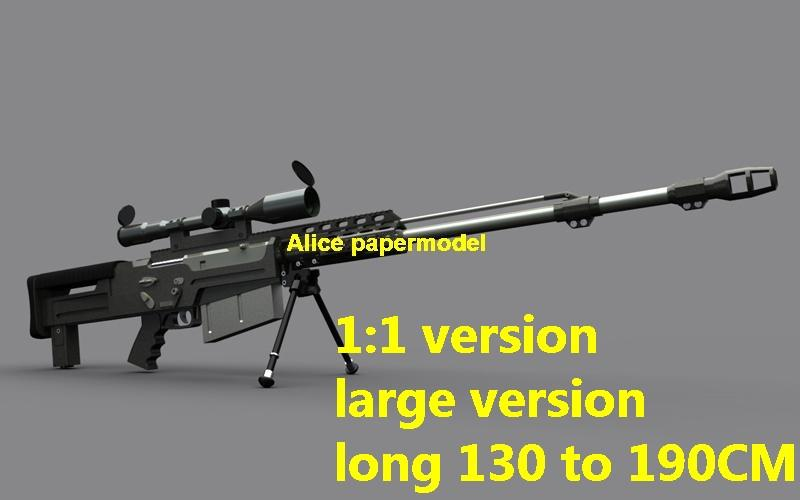 UK AS50 AS-50 Accuracy International AS50 sniper rifle pistol carbine  revolver machine shotgun rocket Launcher toy gun weapon model models for  sale