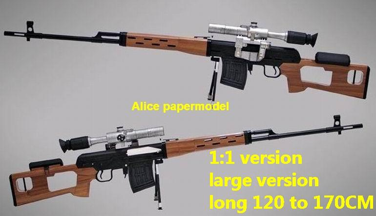 Russia SVD Assault Rifle Revolver Pistol Submachine Shotgun toy gun weapon models model for sale