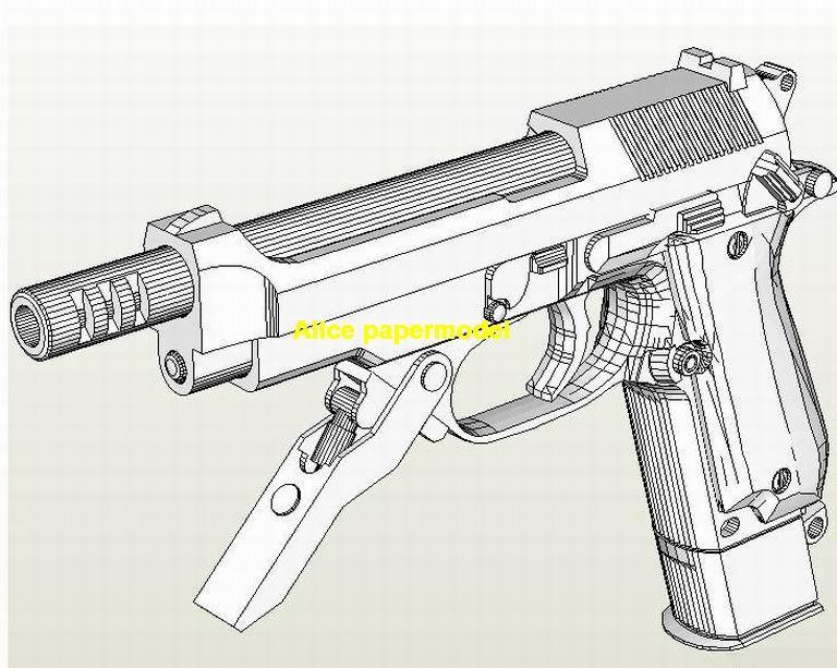 Beretta 93 pistol sub machine gun assault rifle toygun models