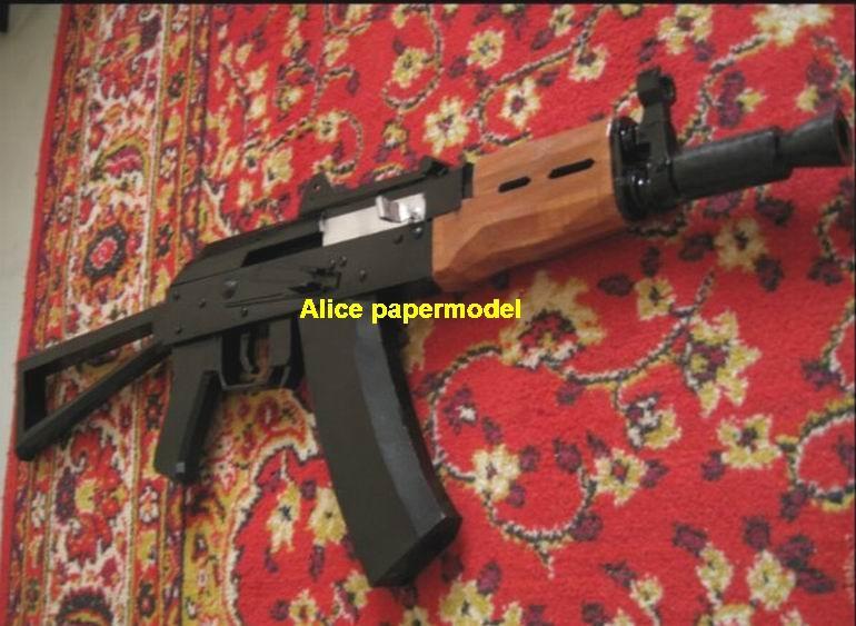 Russia AKSU AK-47 AK47 assault rifle pistol machine gun toygun rifle models