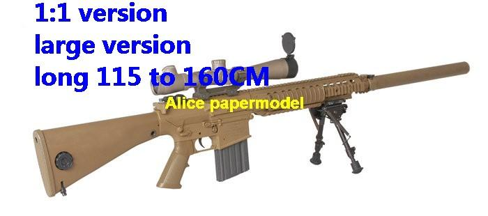 US M110 SASS Semi-Automatic Sniper System pistol sniper rifle carbine revolver machine shotgun rocket Launcher toy gun weapon models model for sale shop store