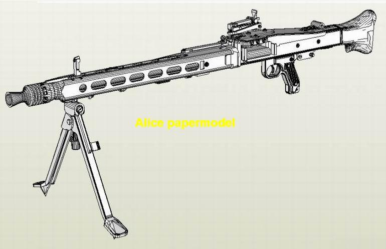 WWII German MG42 MG-42 heavy machine gun Assault Rifle weapon toygun model models
