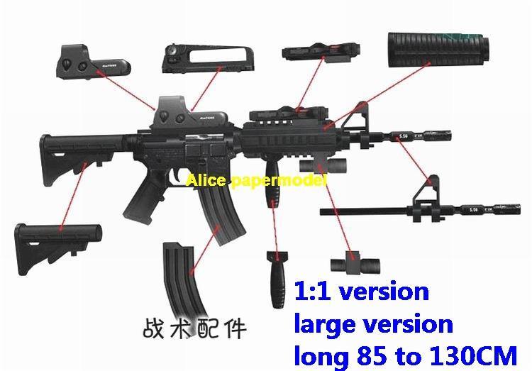 US M4 M-4A1 assault rifle AK47 AK-47 heavy sniper pistol carbine revolver machine shotgun rocket Launcher toy gun weapon model models for sale