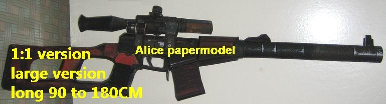 Russia VSS Sniper rifle Assault Rifles automatic rifles weapon toy gun model models
