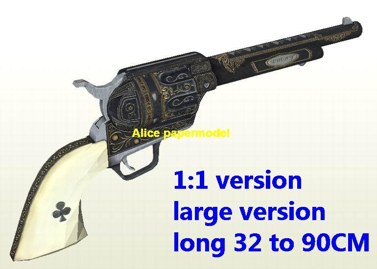 1:1 Colt M1875 Revolver Sniper Rifle machine Shotgun Pistol toy gun weapon models on sale