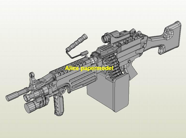 US M-249 M249 heavy machine gun Assault Rifle weapon toygun models model