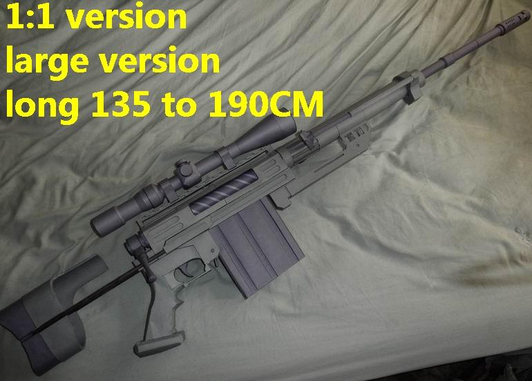 US CheyTac M200 assault sniper rifle machine gun toygun pistol model models for sale