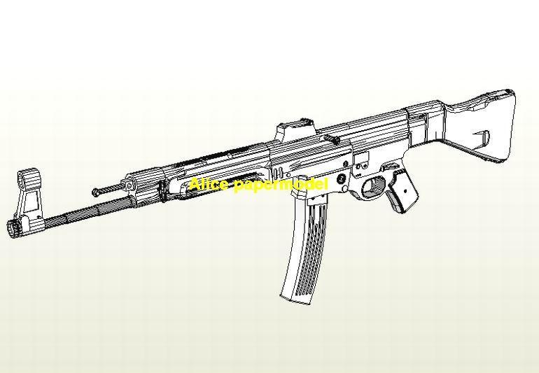 WWII German STG44 STG-44 Assault Sniper Rifle Revolver Pistol machine Shotgun toy gun weapon models