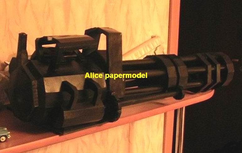 gun M163 Minigun Vulcan machine gun assault rifles toygun rifle models
