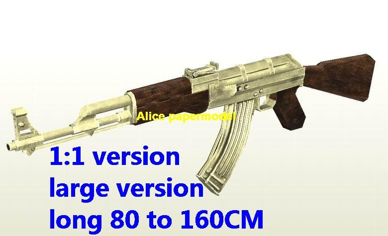 COD4 golden AK47 AK-47 Assault Rifle Revolver Pistol Submachine Shotgun toy gun weapon model models for sale