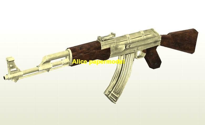 COD4 golden AK47 AK-47 Assault Rifle Revolver Pistol Submachine Shotgun toy gun weapon models