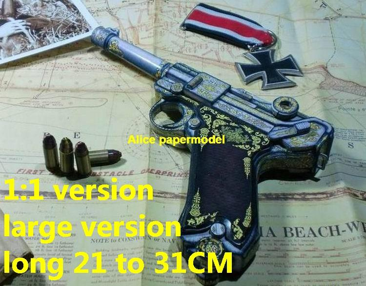WWII Germany German Luger P08 Pistole Parabellum 1908 pistol sniper rifle revolver shotgun toy gun weapon model models for sale