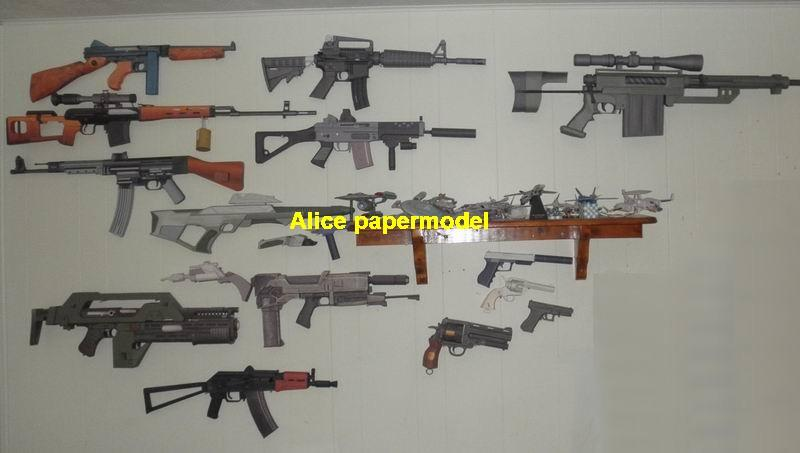 Assault sniper rifle pistol handgun Revolver Shotgun machine gun weapon model models