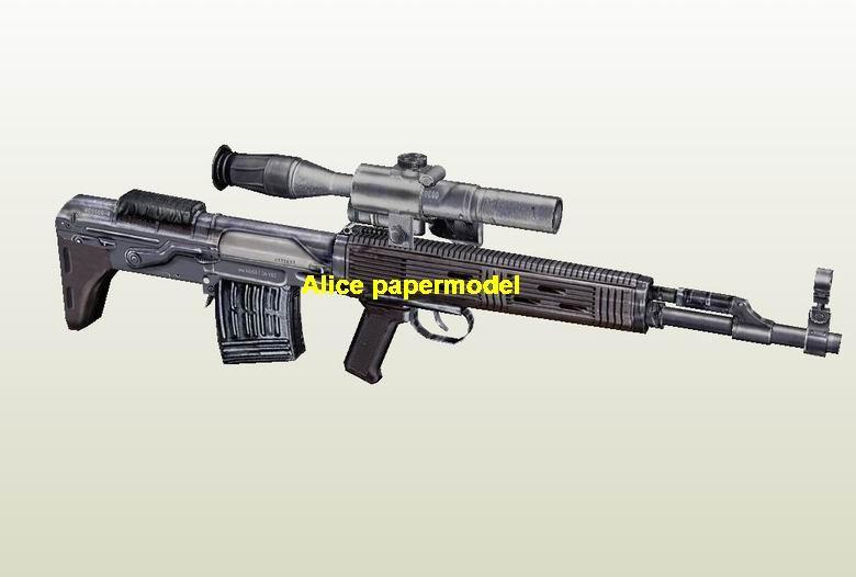 Russia SVU Sniper rifle Assault Rifle automatic rifles weapon toy gun models