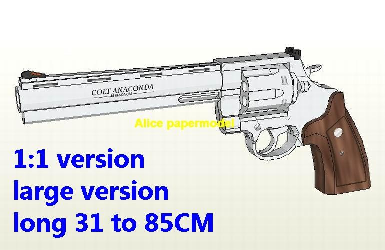 Colt Anaconda Revolver Assault Sniper Rifle Pistol Submachine Shotgun toy gun weapon models for sale
