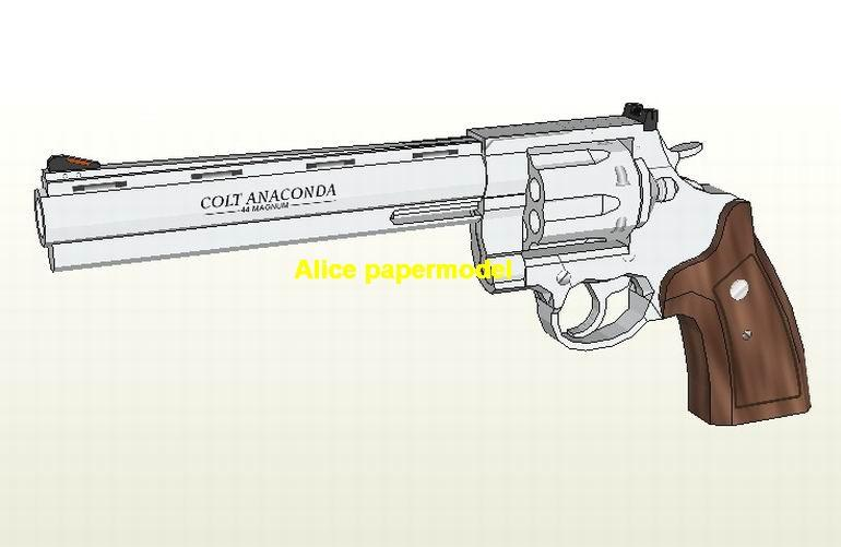 Colt Anaconda Revolver Assault Sniper Rifle Pistol Submachine Shotgun toy gun weapon models