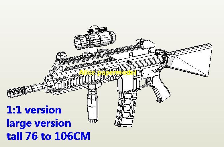 German HK416 Assault Sniper Rifle Revolver Pistol machine Shotgun toy gun weapon models model on sale