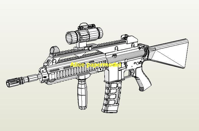 German HK416 Assault Sniper Rifle Revolver Pistol machine Shotgun toy gun weapon model models