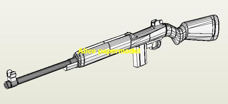 WWII US Honks M1 Assault Sniper Rifle Pistol Revolver Submachine Shotgun toy gun weapon models