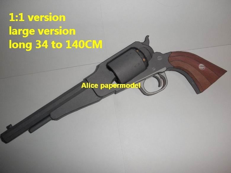 1860 Remington Revolver Assault Sniper Rifle Pistol machine Shotgun toy gun weapon models on sale
