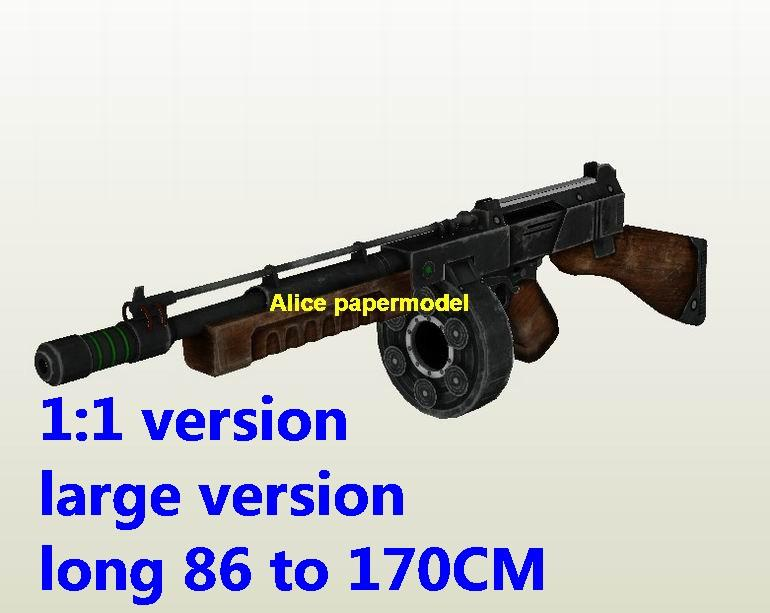 WWII US Thompson sub machine gun Assault Rifle weapon toygun model models for sale