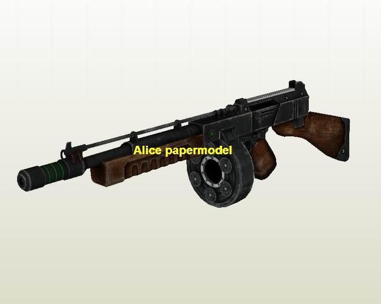 WWII US Thompson sub machine gun Assault Rifle weapon toygun model models