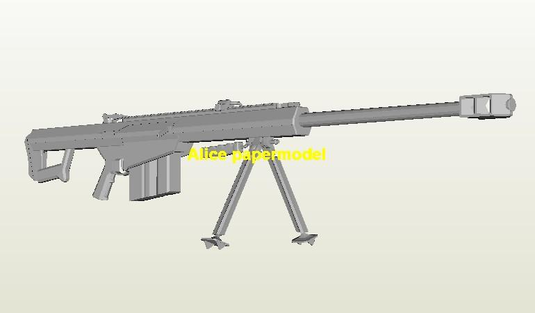 US Barret M107 M-107 Sniper Rifle Assault Shotgun Pistol machine gun weapon toygun models