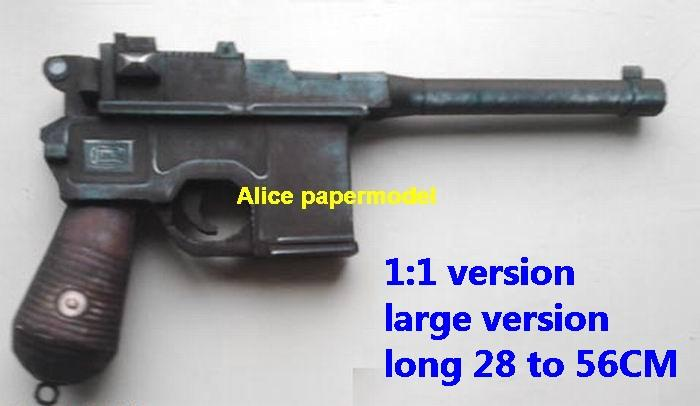 WWII Germany German mauser C96 pistol sniper rifle carbine revolver machine shotgun rocket Launcher toy gun weapon model models for sale