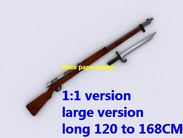 WWII Japan Arisaka type 38 bolt action rifle pistol sniper carbine revolver machine shotgun rocket Launcher toy gun weapon model models for sale