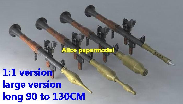 Russia RPG RPG-7 anti tank rocket Launcher sniper rifle carbine revolver machine shotgun toy gun weapon model models for sale