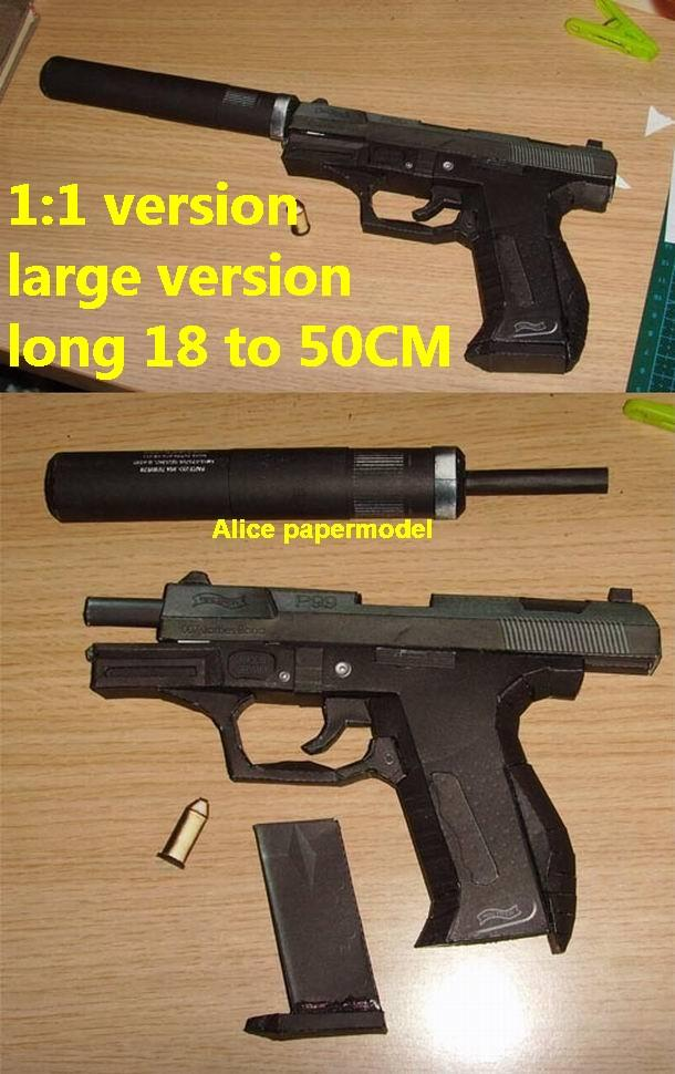 Germany German Walther 007 P99 pistol sniper rifle carbine revolver machine shotgun rocket Launcher toy gun weapon models model for sale shop store