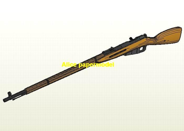 WWII Russia M381 Mosins Assault Sniper Rifle Revolver Pistol Submachine Shotgun toy gun weapon model models