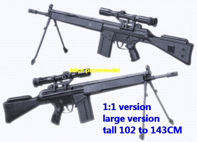 G3SG1 PG-1 Assault Sniper Rifle machine toy gun Pistol weapon models model for sale