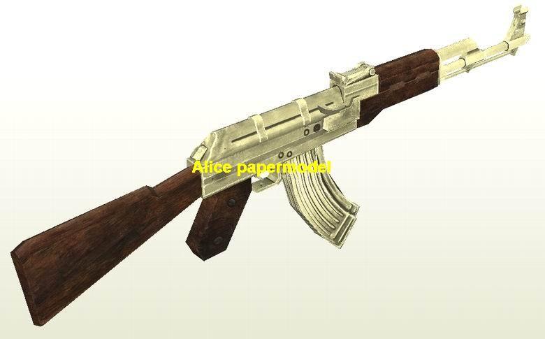 AK47 AK-47 Assault Rifle Revolver Pistol Submachine Shotgun toy gun weapon models