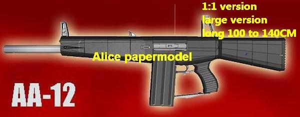 AA-12 combat shotgun machine gun pistol handgun weapon models