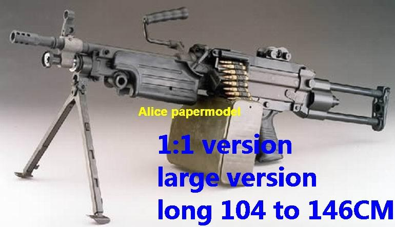 US M-249 M249 heavy machine gun Assault Rifle weapon toygun models model for sale