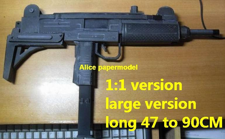Israel UZI pistol Submachine gun sniper rifle carbine revolver machine shotgun rocket Launcher toy gun weapon model models for sale