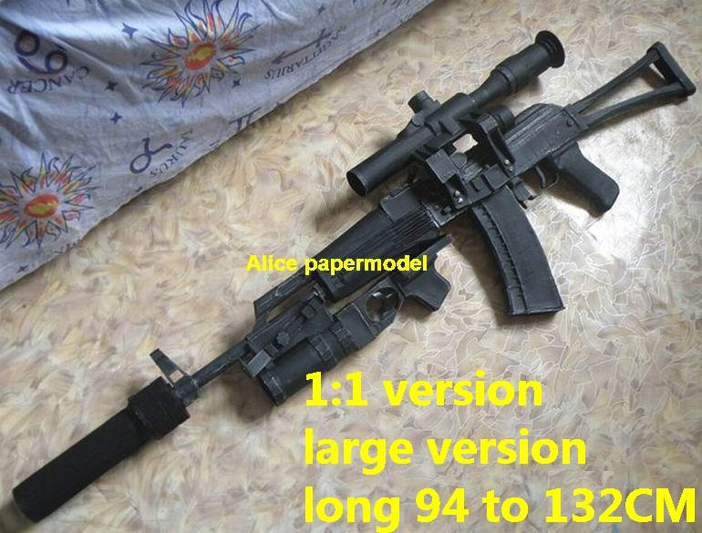 Russia AK47 AKS74 AKS-74 assault rifle machine gun rifle toygun models model for sale