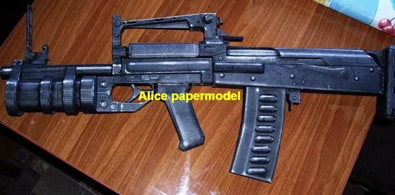 Russia Groza Assault Rifle automatic rifles machine gun weapon toygun models