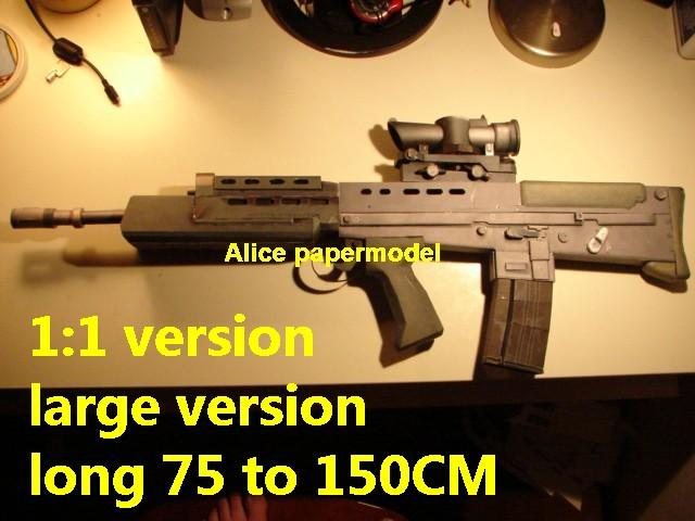 UK United Kingdom SA80 L85 assault rifle sniper carbine revolver machine shotgun rocket Launcher toy gun weapon models model for sale shop store