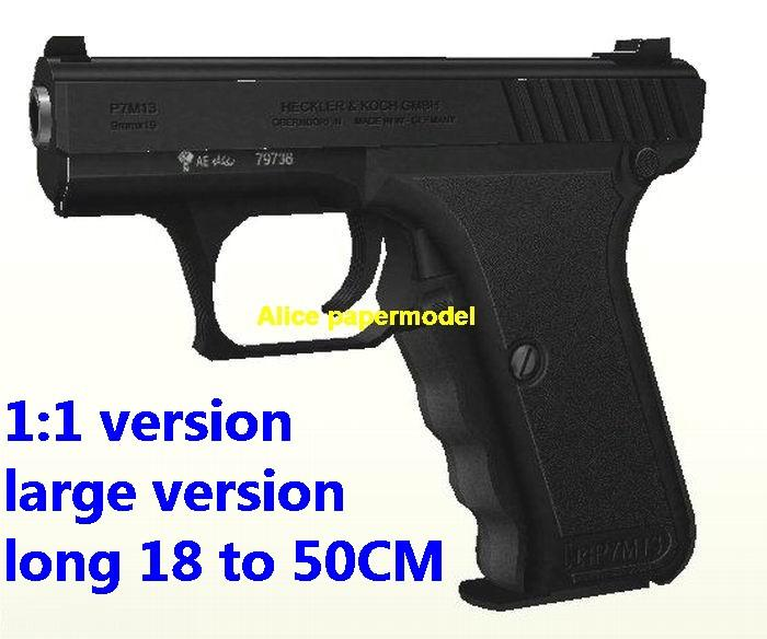 German HK P7 pistol handgun weapon gun model models for sale