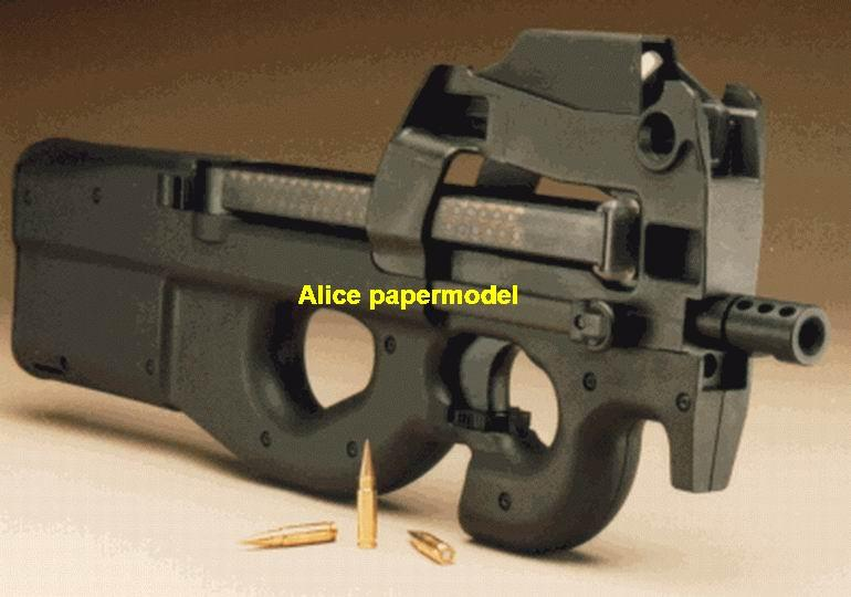 Belgium FN P90 submachine toy gun rifles rifle weapon model models