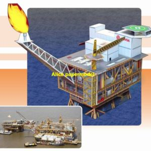 Offshore oil drilling platform Ship cruiser bulk freighter Ferry tugboat cargo Container paper models on for sale shop store
