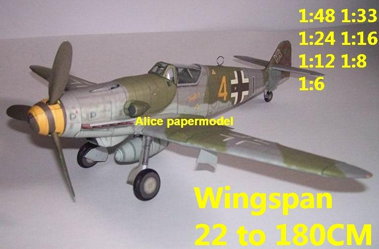 WWII German fighter Bf-109 Bf109 Me-109 Me109 K4 Stosser aircraft biplane big large scale size plane flight model models soldier pilot scene for sale store shop