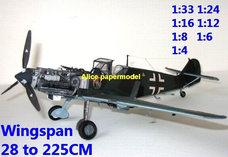 WWII German fighter Messerschmitt Bf-109 Bf 109 T1 biplane aircraft big large scale size plane flight model models soldier pilot scene for sale store shop
