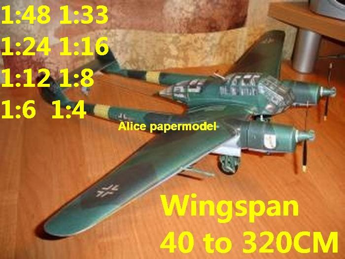 WWII German night heavy fighter Messerschmitt Focke Wulf FW189 FW-189 UHU aircraft biplane big large scale size plane flighter model models soldier pilot scene for sale shop store